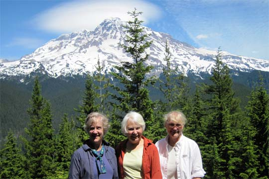 Susan, Joan, Carol at Rainier