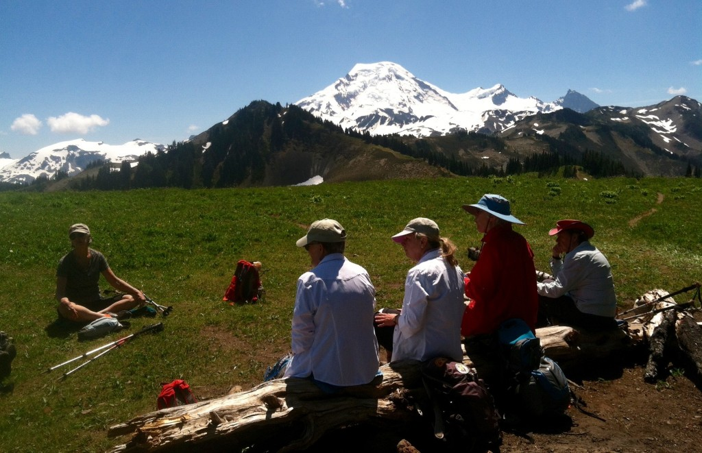 Lunch Break at Skyline Divide, June 2015