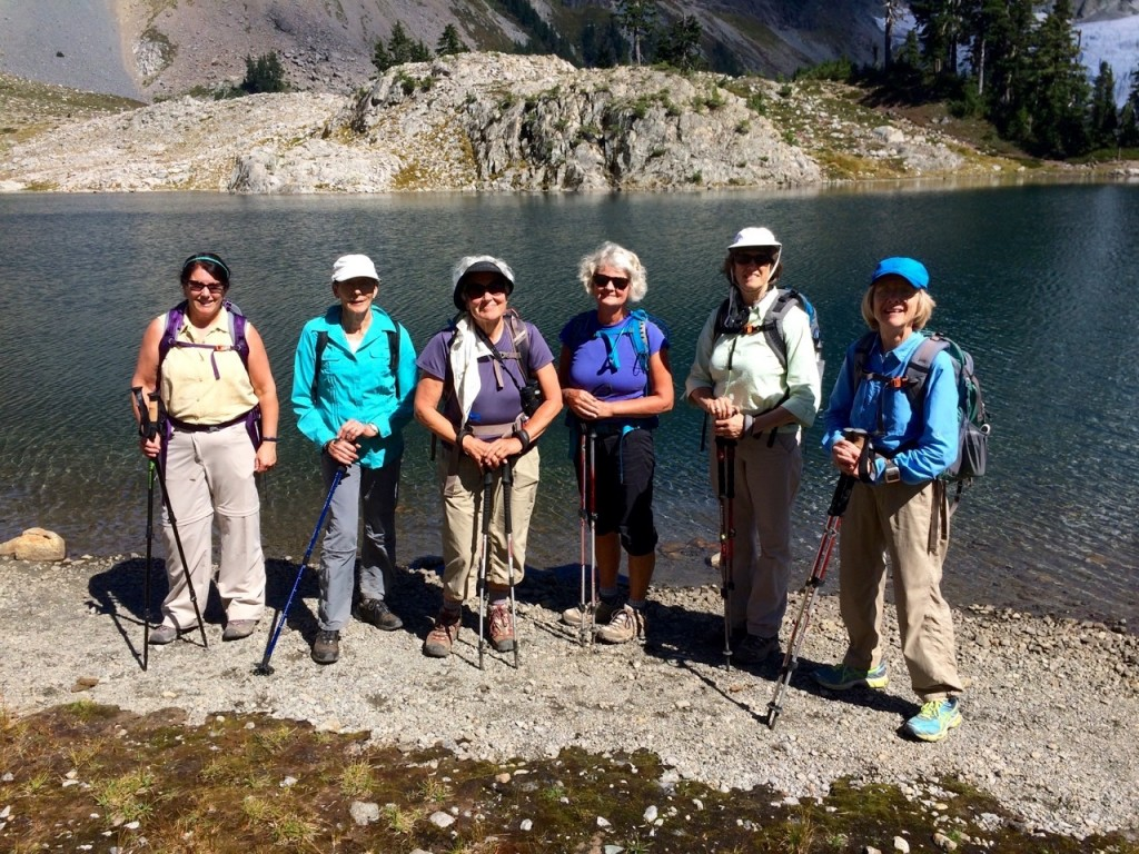 Hikers at Lake Ann - August 2015